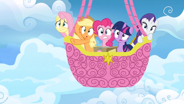 File:Main ponies in balloon afraid S3E07.png