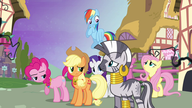 File:Ponies looking at Zecora S4E02.png