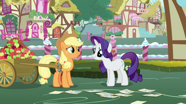 File:Rarity asks Applejack to think about it S7E9.png
