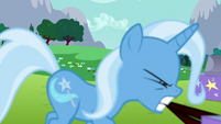 Trixie dragging a trunk across the ground S6E6