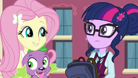 "Fluttershy ""does he talk?"" EG3"