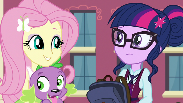 "File:Fluttershy ""does he talk?"" EG3.png"