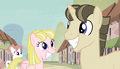 Pinkie looks at the creepy smiles S5E1.png