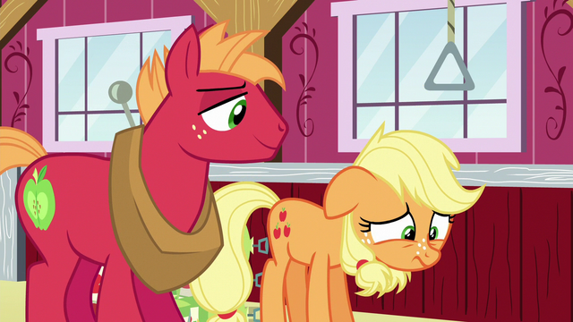 File:Young Applejack even more disappointed S6E23.png