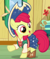 Apple Bloom square dancing mountain climbing outfit ID S6E4.png