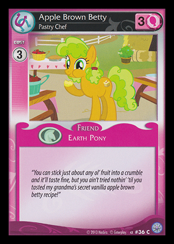 File:Apple Brown Betty, Pastry Chef card MLP CCG.jpg