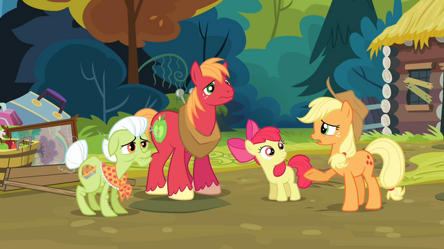 File:Applejack '...and now look at us' S4E09.png
