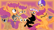 FANMADE Scootaloo Collage Mewkat14