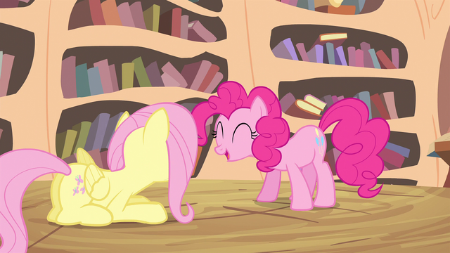 File:Pinkie Pie tells her friends what she got in the mail S4E11.png