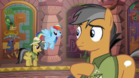Daring Do asking for Quibble Pants' advice S6E13