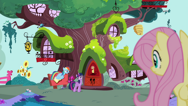 File:Fluttershy sees Rainbow and Twilight S4E21.png