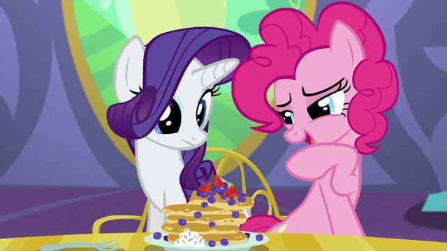 "File:Pinkie ""Somepony's gonna get a very special pancake!"" S5E03.png"