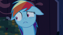 Rainbow Dash tries to find the words S6E15