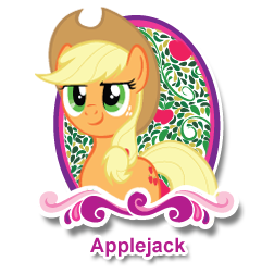 "File:Applejack's ""Meet the Ponies"" profile image.png"