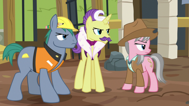 File:Expert ponies offended by Fluttershy's opinion S7E5.png
