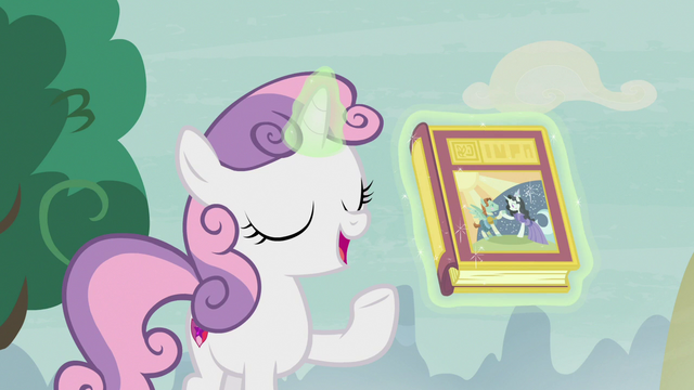 File:Sweetie Belle levitating book of fairy tales S7E8.png