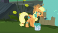 Applejack painting a wooden board S5E16.png