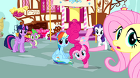 Mane 6 notice Cheese Sandwich S4E12