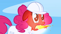 Pinkie Pie momentarily belches fire S1E16.png