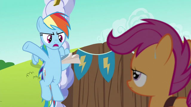 "File:Rainbow Dash ""I've only got 'til noon"" S6E14.png"