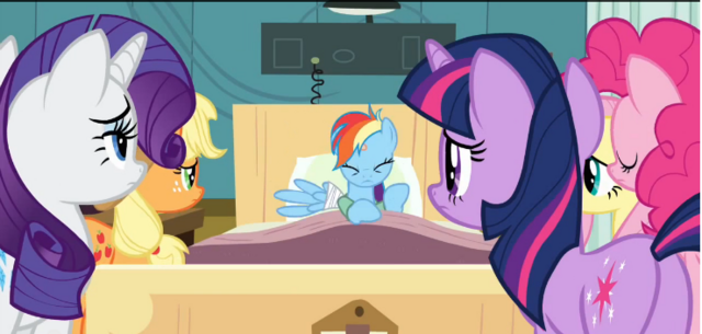 File:Ponies examine Rainbow Dash S2E16.png