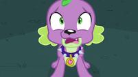 Spike scared for Twilight EG3