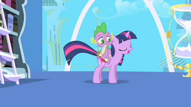 File:Twilight asks Spike to take a note S1E01.png