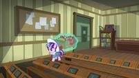 Young Snowfall enters a classroom S6E8