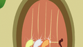 Crusaders knocking on Fluttershy's door S6E15.png