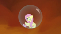 Fluttershy trapped in her bubble prison S4E26