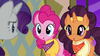 "Pinkie and Saffron answer ""two"" S6E12"