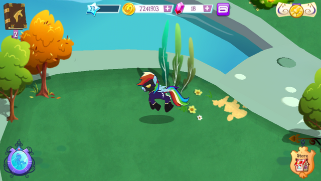File:Shadowbolt Rainbow Dash in-game MLP mobile game.png