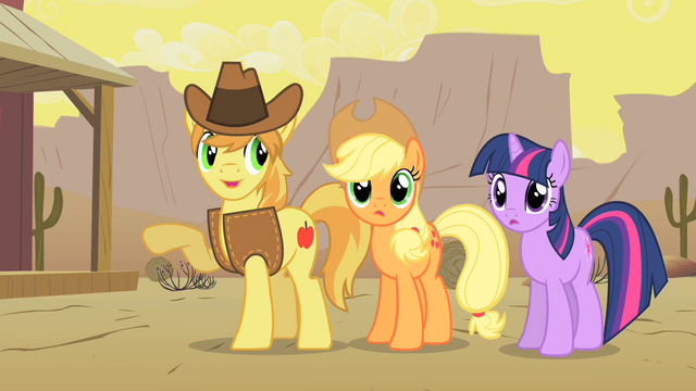 File:Braeburn Applejack and Twi S01E21.png