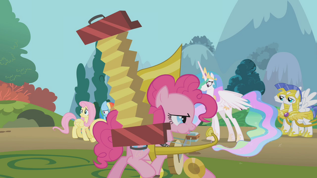 File:Pinkie passes by surprised Celestia S1E10.png