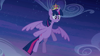 Twilight notices Princess Celestia is hit S4E02