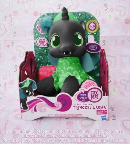 File:FANMADE Princess Larva Toy.jpg