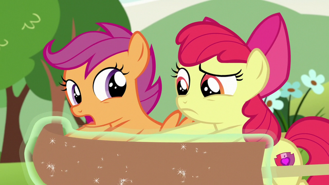 """File:Scootaloo """"non-Pegasus ponies fall through the clouds"""" S7E7.png"""