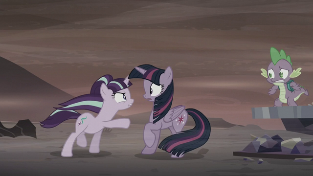 File:Starlight points at Twilight Sparkle S5E26.png