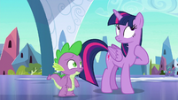Twilight Sparkle pausing awkwardly S6E16