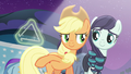 Applejack ringing the triangle S5E24.png