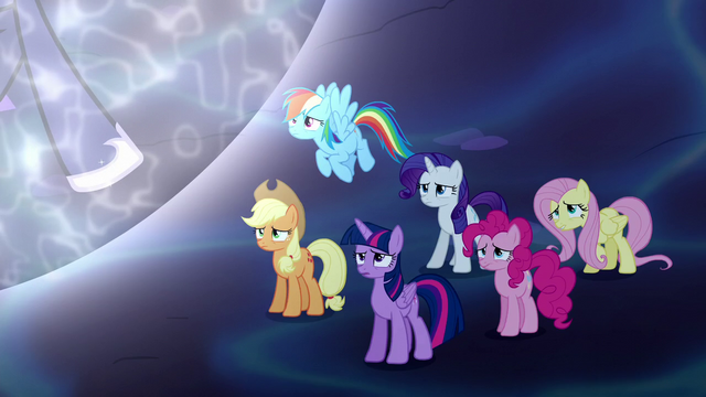 File:Mane Six worried about Princess Luna S5E13.png