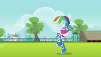 Rainbow Dash pumps a fist EG