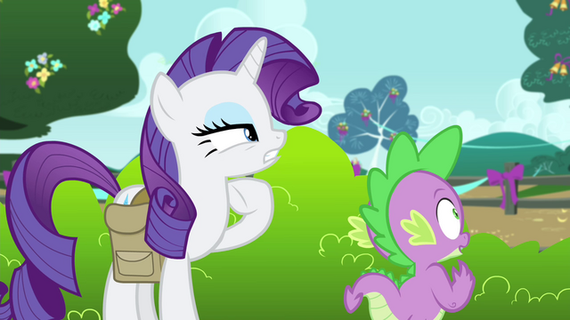 """File:Rarity """"seem to have a proper theme"""" S4E23.png"""