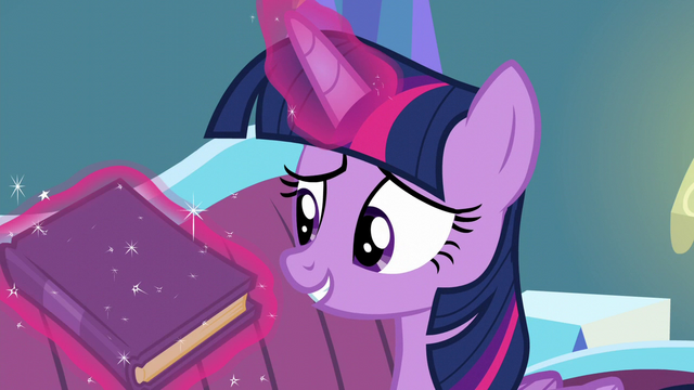 "File:Twilight levitates book ""What's funny about that?"" S5E12.png"