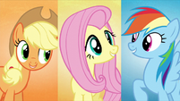 """AJ, Fluttershy, and Dash sing """"and we'll make"""" S5E3"""