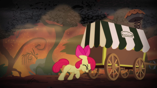 File:Apple Bloom pushing pie cart S4E17.png