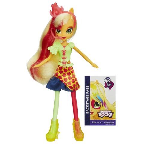 File:Applejack Equestria Girls Rainbow Rocks neon doll.png