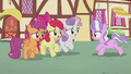 CMC sing to Diamond while galloping backward S5E18.png