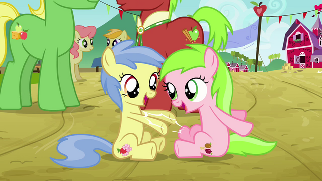File:Fillies playing with each other S3E8.png