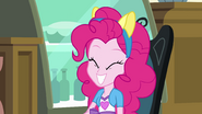 Pinkie Pie smiling with fake pony ears EG